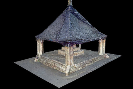 Laser scan pointcloud image of buttercross
