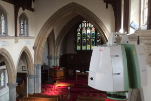 Laser scanner surveying inside church